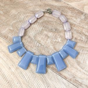 Acrylic MARNI inspired blue necklace Adjustable